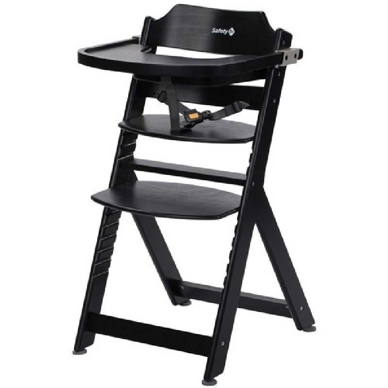 Chaise haute enfant Timba Noire