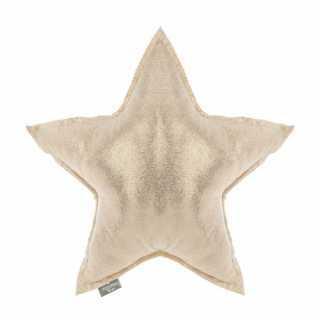 Coussin décoratif étoile or 46 x 46
