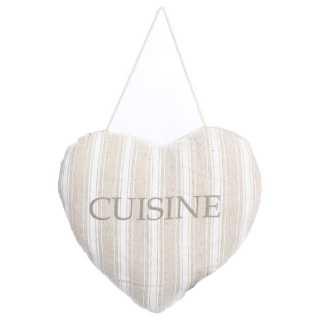 Coussin Porte Coeur Cuisine rayure