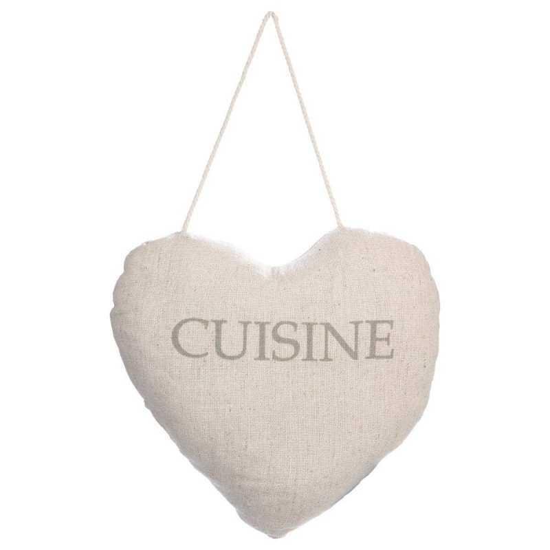 Coussin Porte Coeur Cuisine uni