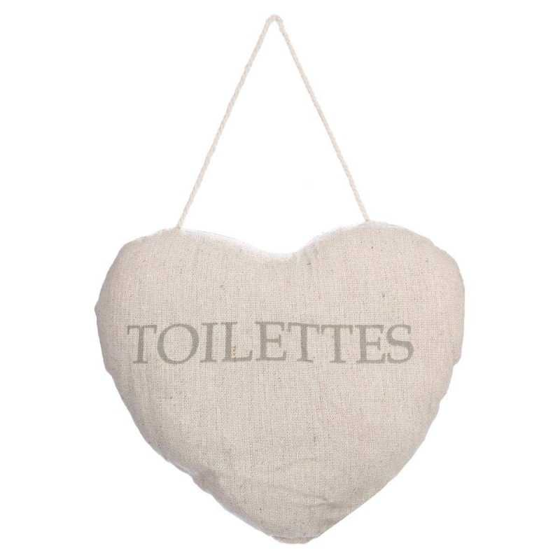 Coussin Porte Coeur Toilettes uni