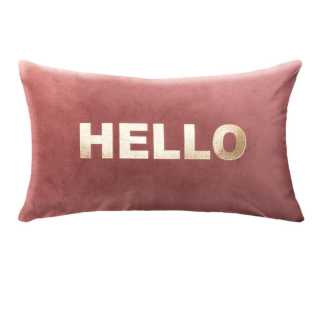 Coussin déhoussable en Velours Hello