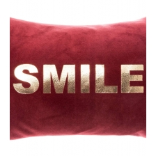 Coussin déhoussable en Velours Smile