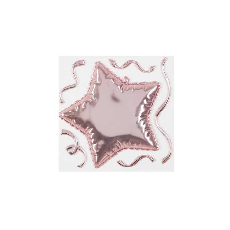 Sticker ballon étoile Rose