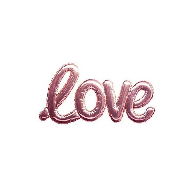 Sticker ballon Love Rose