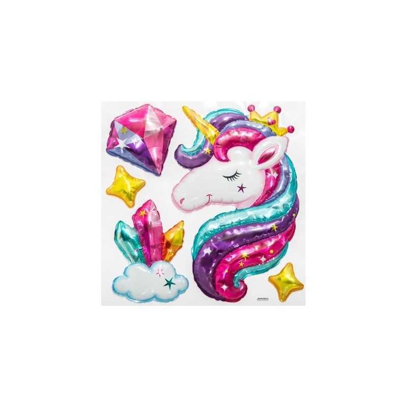 Sticker ballon fille Licorne