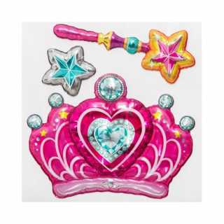 Sticker ballon fille Couronne