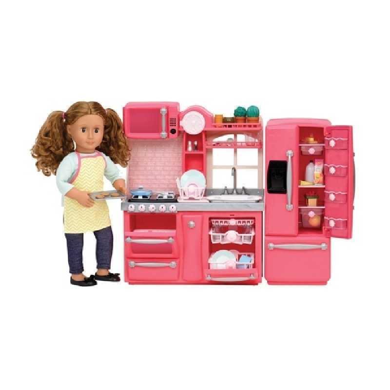 Cuisine pour poupée Rose