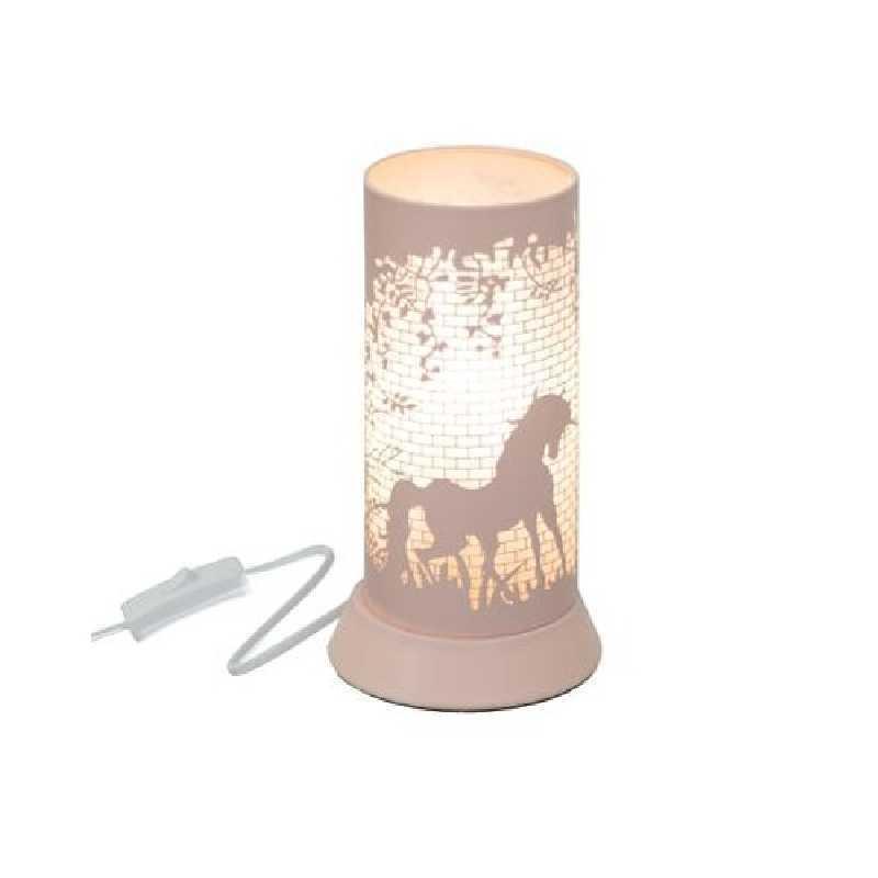 Lampe decorative en metal Rose
