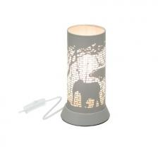 Lampe decorative en metal Gris