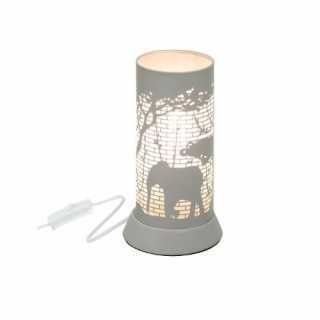 Lampe decorative en metal Gris