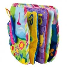 Livre d'eveil en tissus coloré
