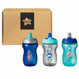 Lot de 3 tasses enfant Sporty Bleu 12 mois+