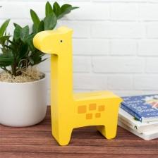 Tirelire en bois Girafe Jaune