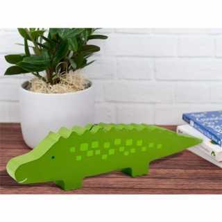 Tirelire en bois alligator Vert