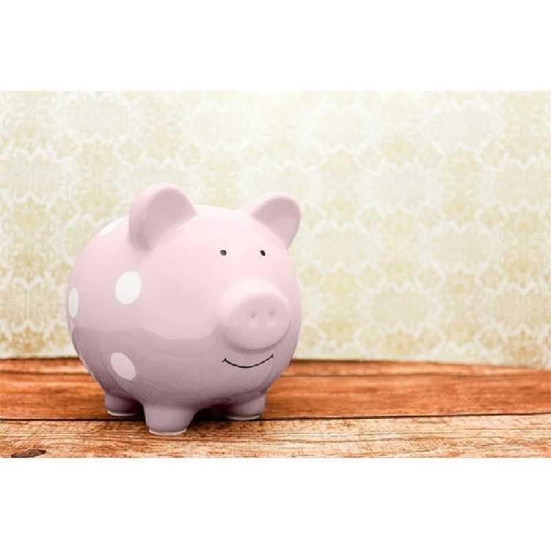 Tirelire en Céramique Cochon Rose