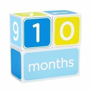Cube pour Afficher Age de bébé Bleu