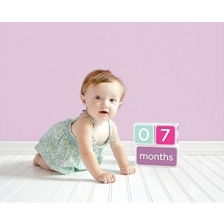 Cube pour Afficher Age de bébé Rose