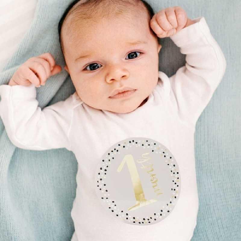 Autocollants de ventre bébé Gris