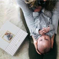 Boite à souvenir de bébé Gris