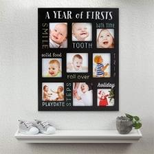 Cadre en bois souvenirs de bébé