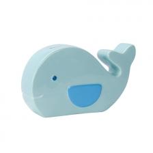 Banque tirelire baleine en céramique Bleu