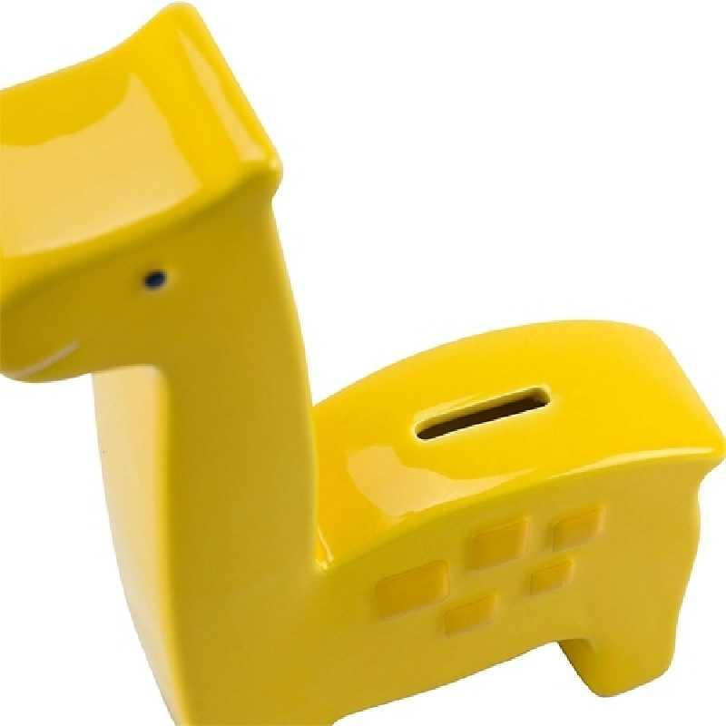 Banque tirelire girafe en céramique Jaune