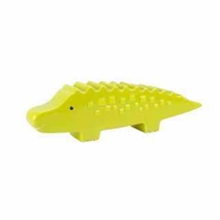 Banque tirelire alligator en céramique Vert
