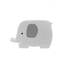 Banque tirelire élephant en céramique Gris