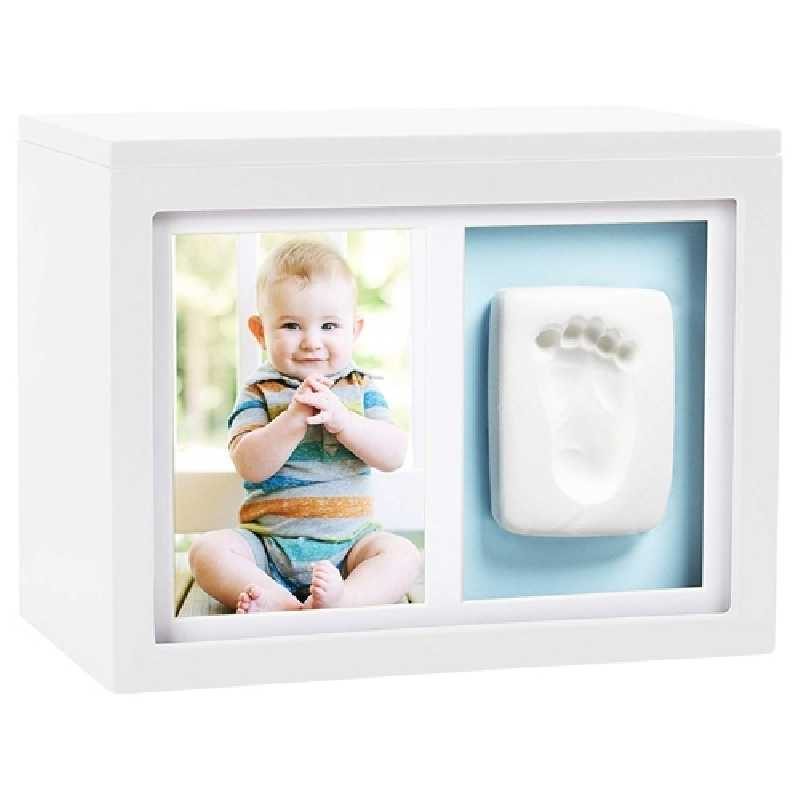 Boîte de mémoire bébé avec kit empreinte Blanc