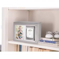 Boîte de mémoire bébé avec kit empreinte Gris