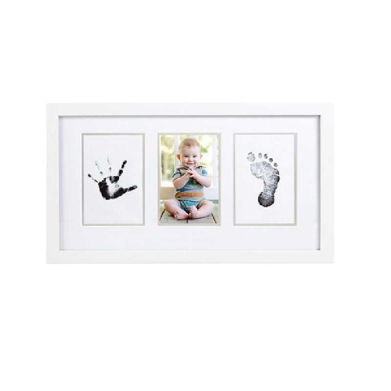 Kit de cadre photo avec un tampon d'encre sans texte