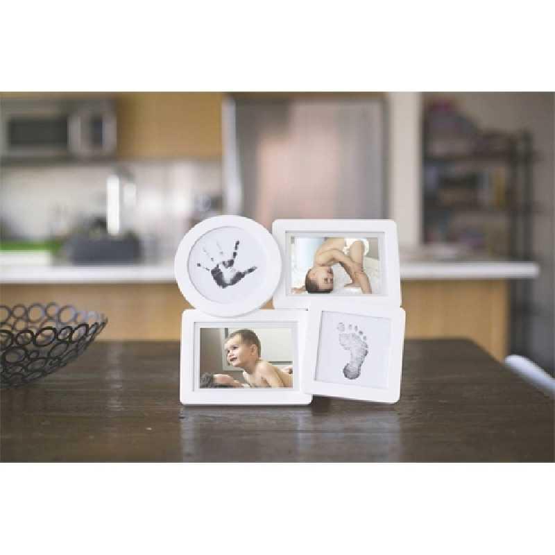 Cadre photo et empreinte en bois Blanc