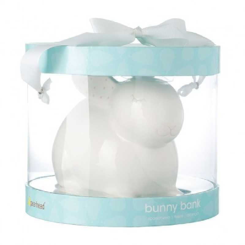 Tirelire bébé ceramique Lapin Blanc