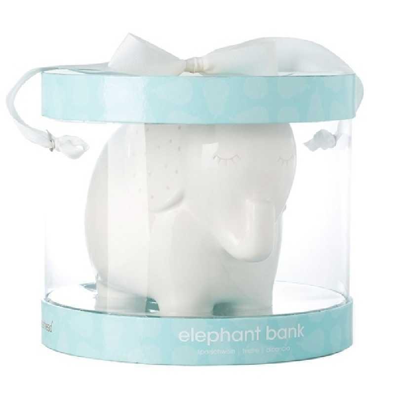 Tirelire bébé ceramique Elephant Blanc