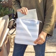 Tapis sac a langer Gris Blanc