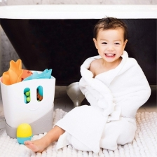 Bac de rangement de jouets de bain Gris