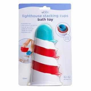 Jouet de bain Lighthouse stacking Cups
