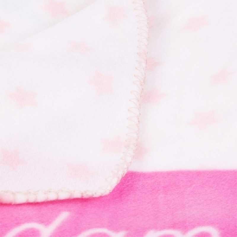 Plaid polaire enfant doux Rose 120 x 150