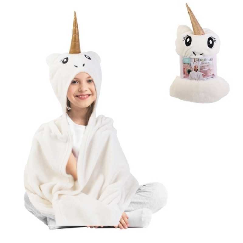 Plaid enfant Licorne Blanc