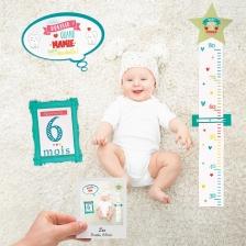 Cartes de souvenir bébé Vert