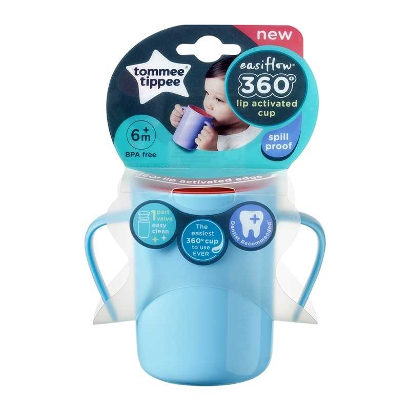 Tasse enfant 360 avec anses 200ml Bleu 6m+