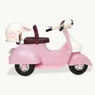 Scooter pour poupée Rose et Blanc