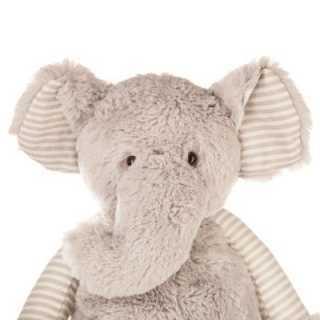 Peluche éléphant beige