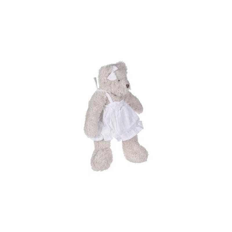 Peluche ourson fille Blanc Beige