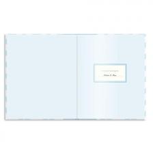 Livre de naissance bébé 2 en 1 Bleu en Anglais