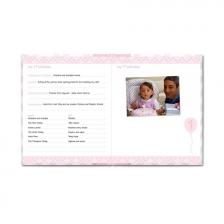 Livre de naissance bébé 2 en 1 Rose