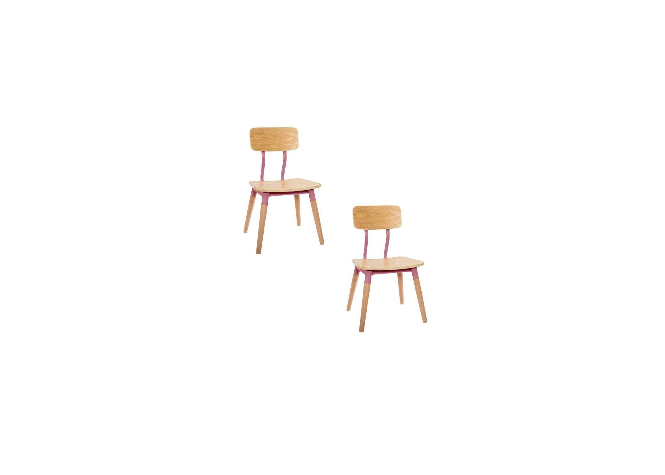 Lot de 2 chaises enfant rétro Roses