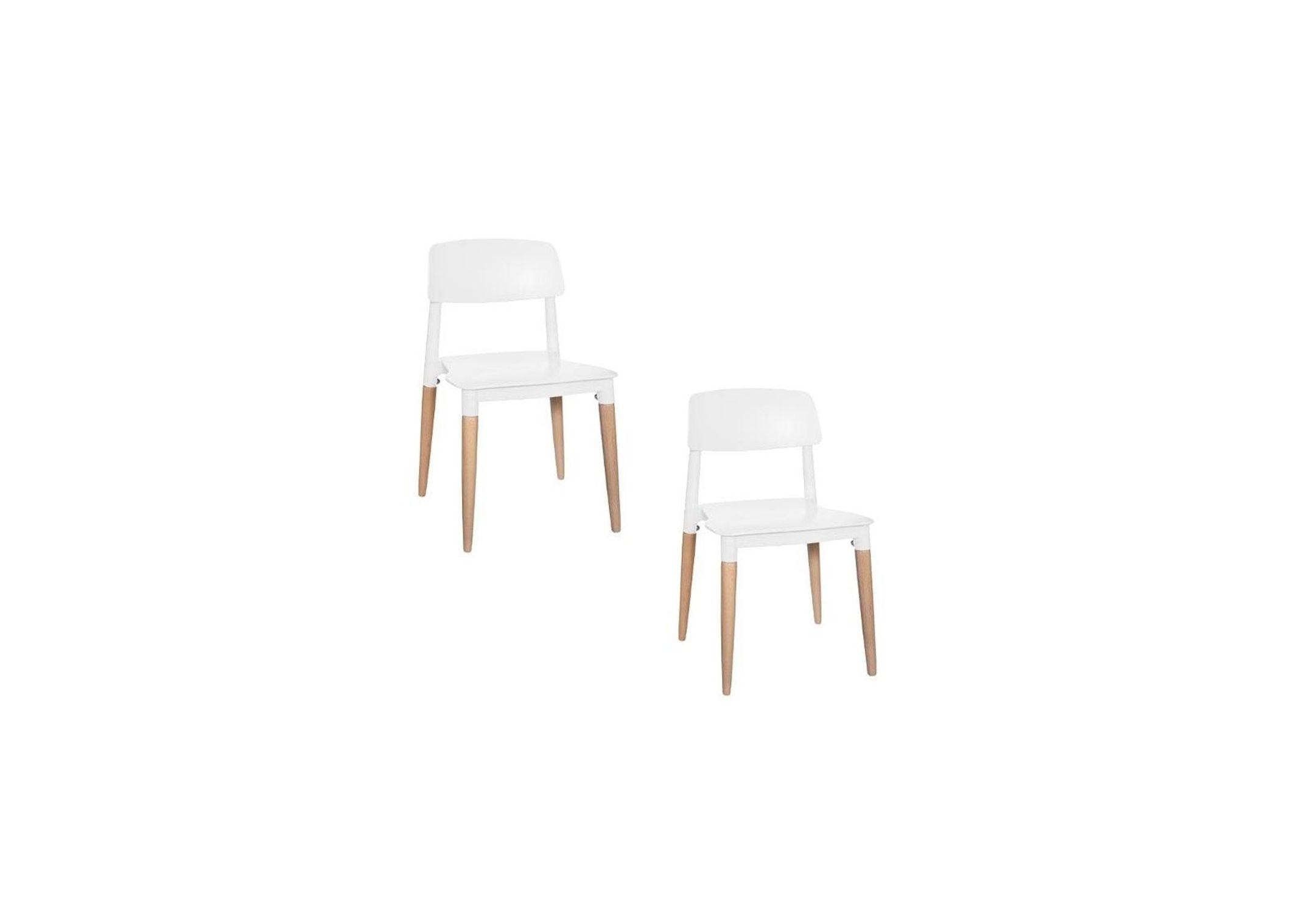Lot de 2 chaises Design Polypropylène Blanches