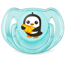 Lot de 2 sucettes Baleine et Pingouin 6-18 mois